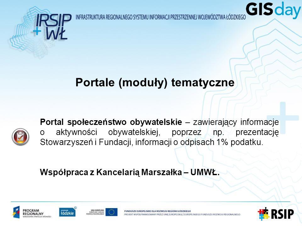 Portal społeczeństwo obywatelskie – zawierający informacje o aktywności obywatelskiej, poprzez np. prezentację Stowarzyszeń i Fundacji, informacji o o
