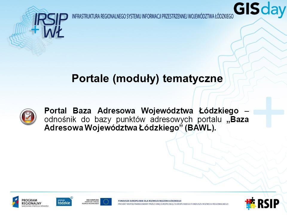 Portal Baza Adresowa Województwa Łódzkiego – odnośnik do bazy punktów adresowych portalu Baza Adresowa Województwa Łódzkiego (BAWL).