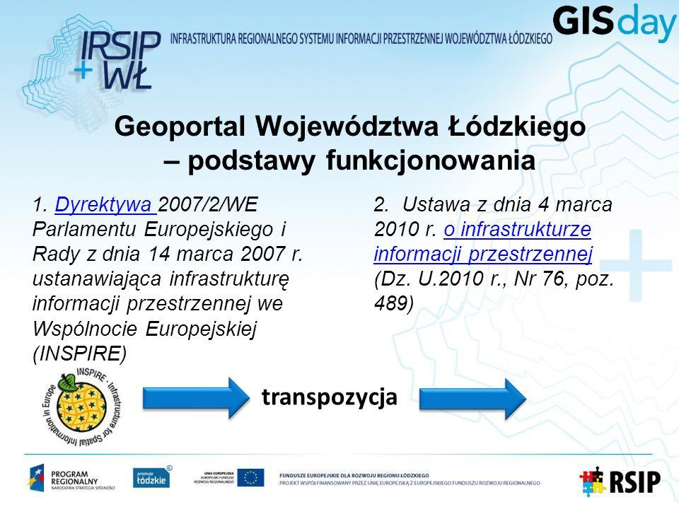 Geoportal Województwa Łódzkiego – podstawy funkcjonowania 1.