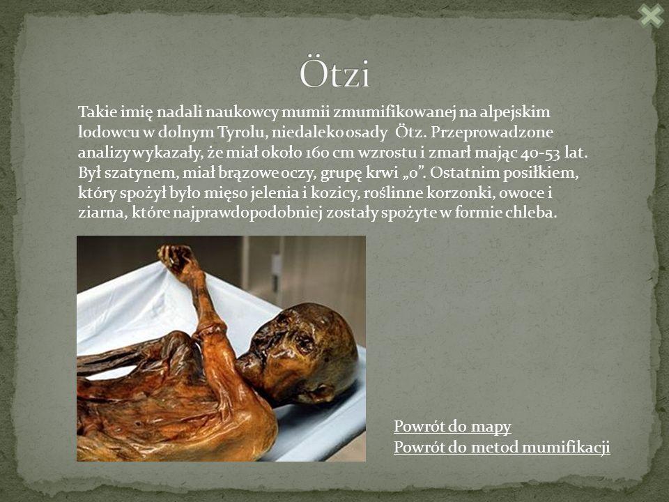 Takie imię nadali naukowcy mumii zmumifikowanej na alpejskim lodowcu w dolnym Tyrolu, niedaleko osady Ötz.