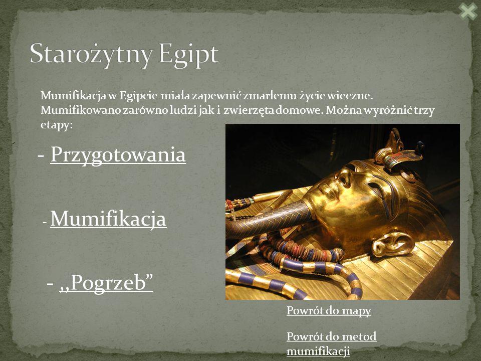Mumifikacja w Egipcie miała zapewnić zmarłemu życie wieczne.