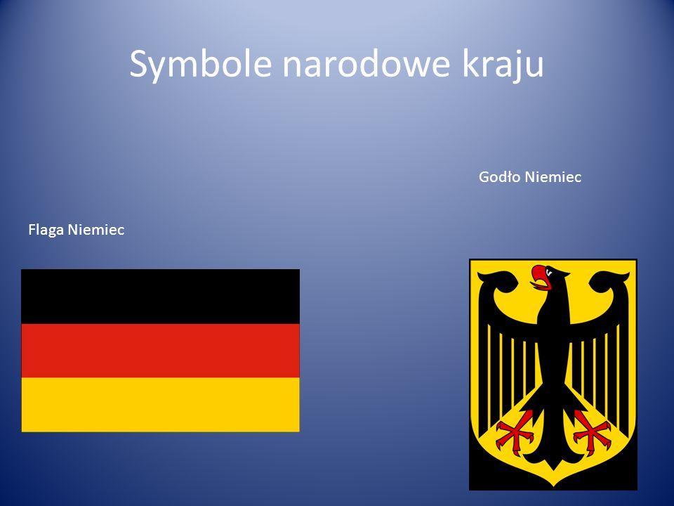 Symbole narodowe kraju Flaga Niemiec Godło Niemiec