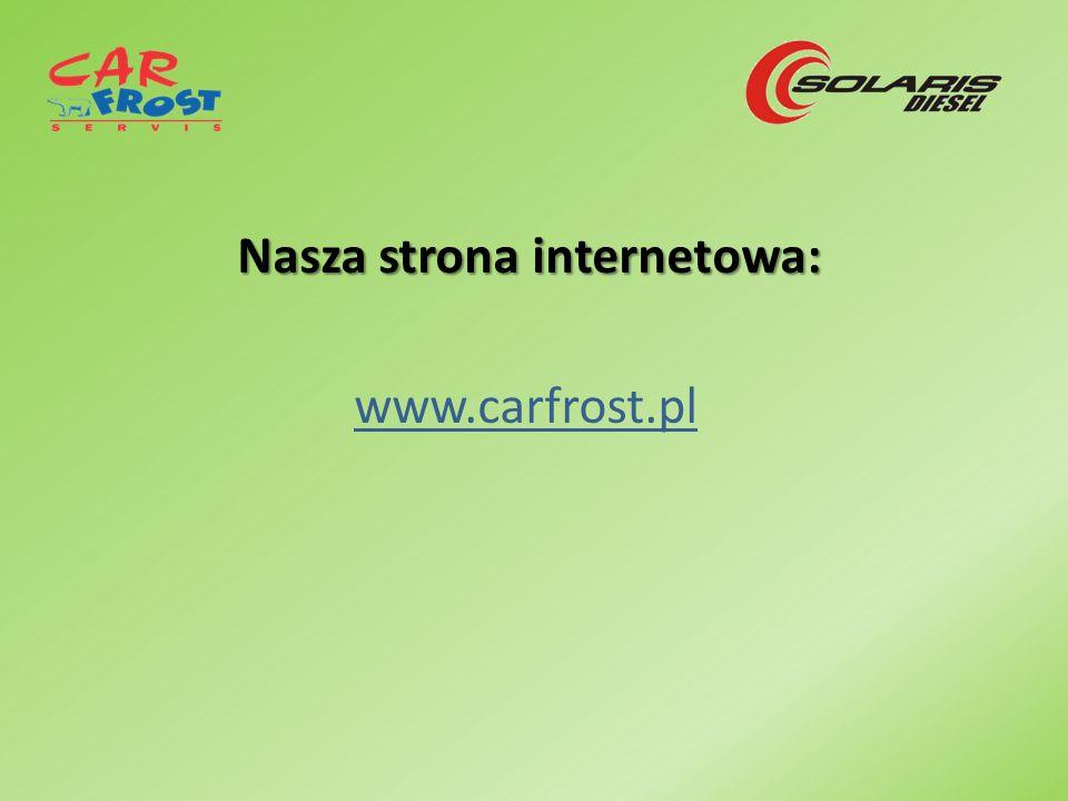 Nasza strona internetowa: www.carfrost.pl