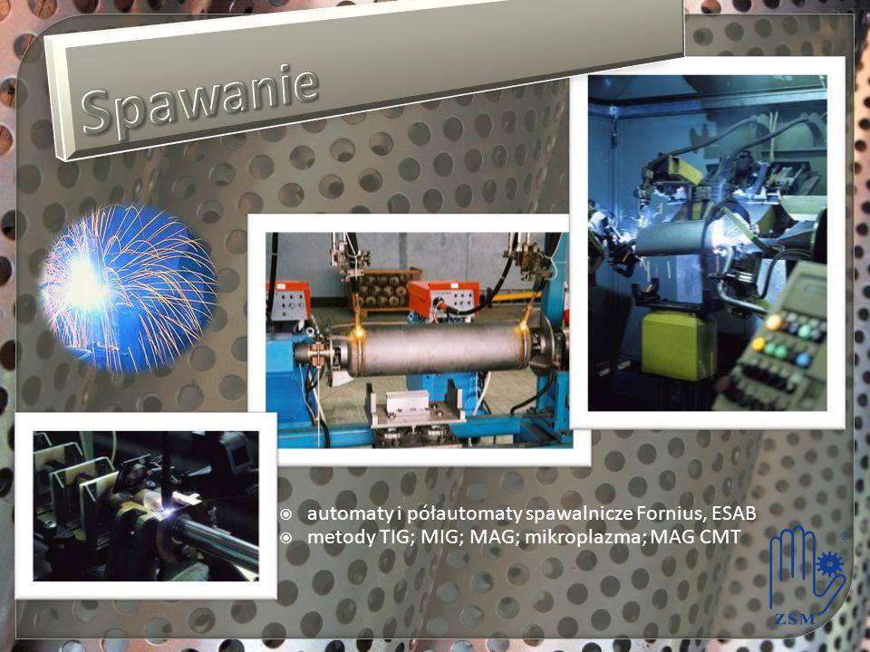 automaty i półautomaty spawalnicze Fornius, ESAB metody TIG; MIG; MAG; mikroplazma; MAG CMT