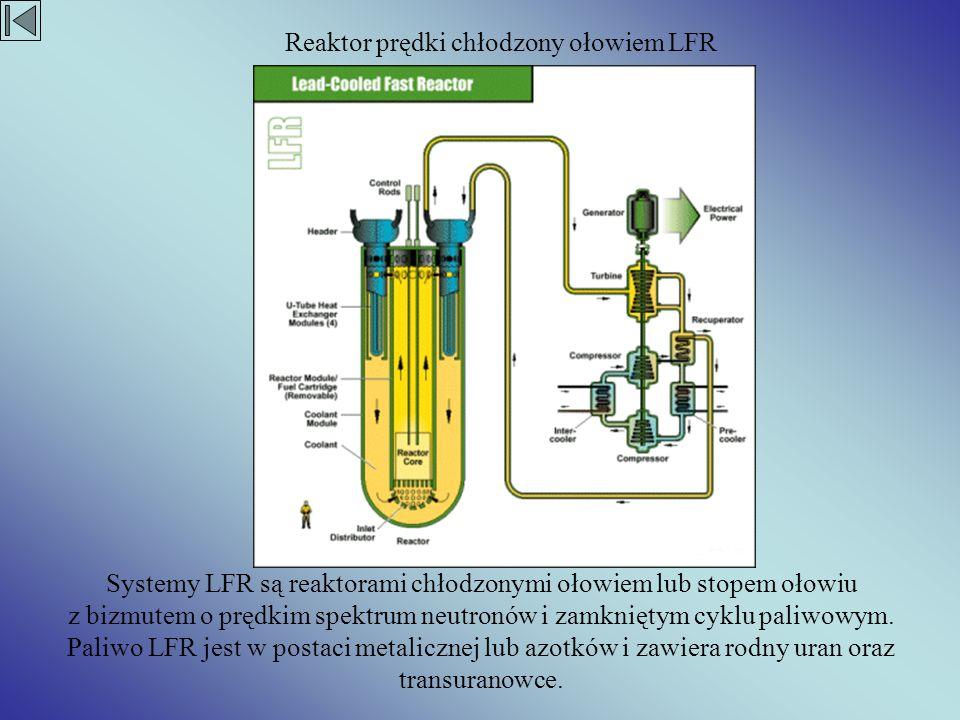 Systemy LFR są reaktorami chłodzonymi ołowiem lub stopem ołowiu z bizmutem o prędkim spektrum neutronów i zamkniętym cyklu paliwowym. Paliwo LFR jest
