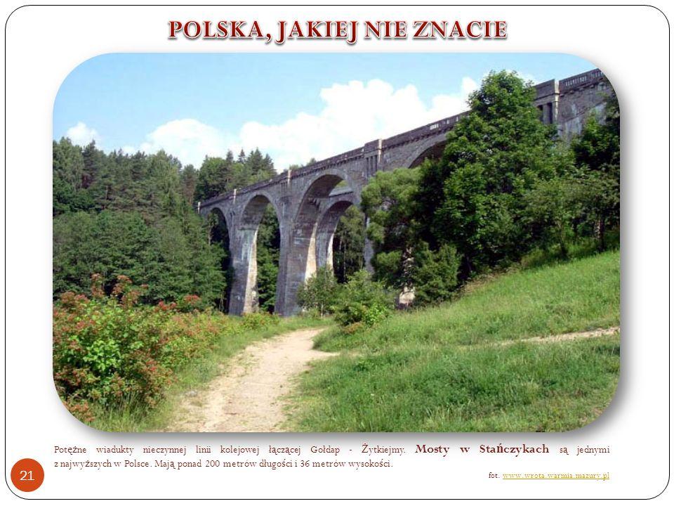 Pot ęż ne wiadukty nieczynnej linii kolejowej ł ą cz ą cej Gołdap - Ż ytkiejmy.