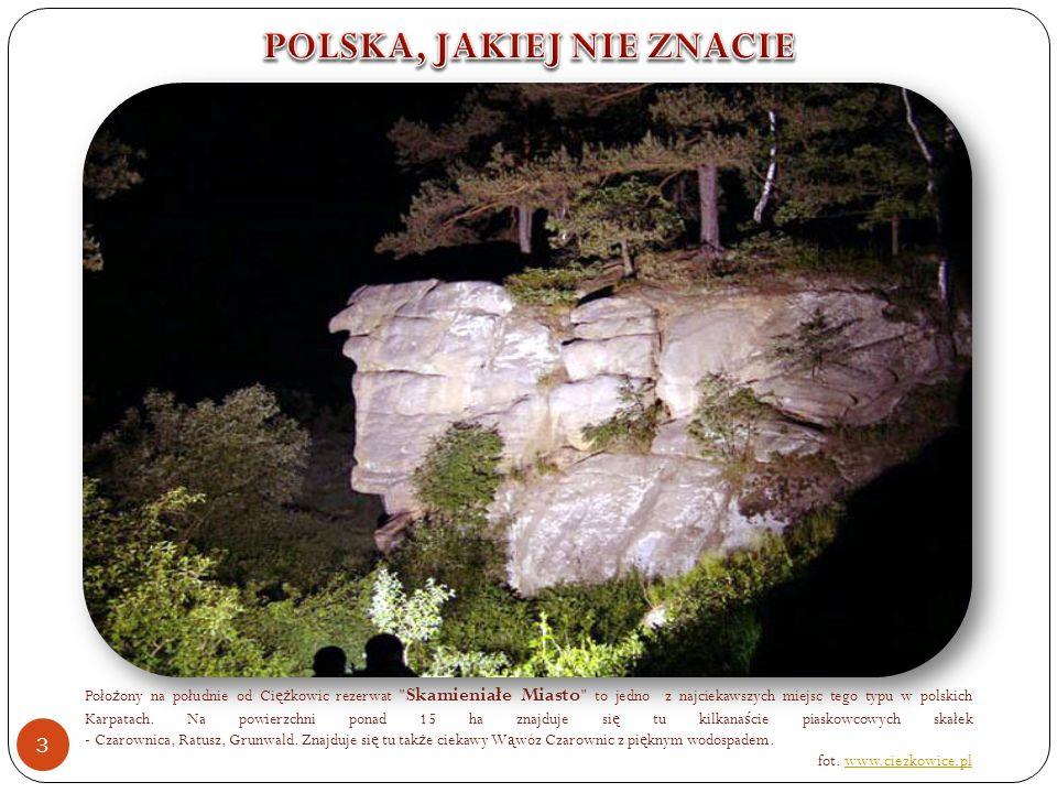 Poło ż ony na południe od Ci ęż kowic rezerwat Skamieniałe Miasto to jedno z najciekawszych miejsc tego typu w polskich Karpatach.