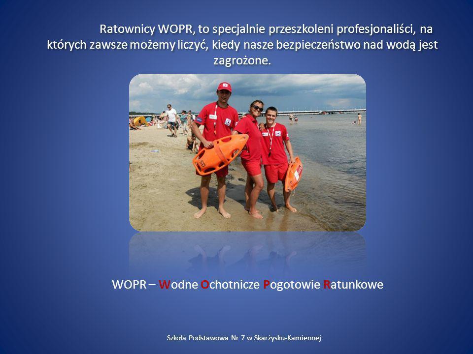 Ratownicy WOPR, to specjalnie przeszkoleni profesjonaliści, na których zawsze możemy liczyć, kiedy nasze bezpieczeństwo nad wodą jest zagrożone. WOPR