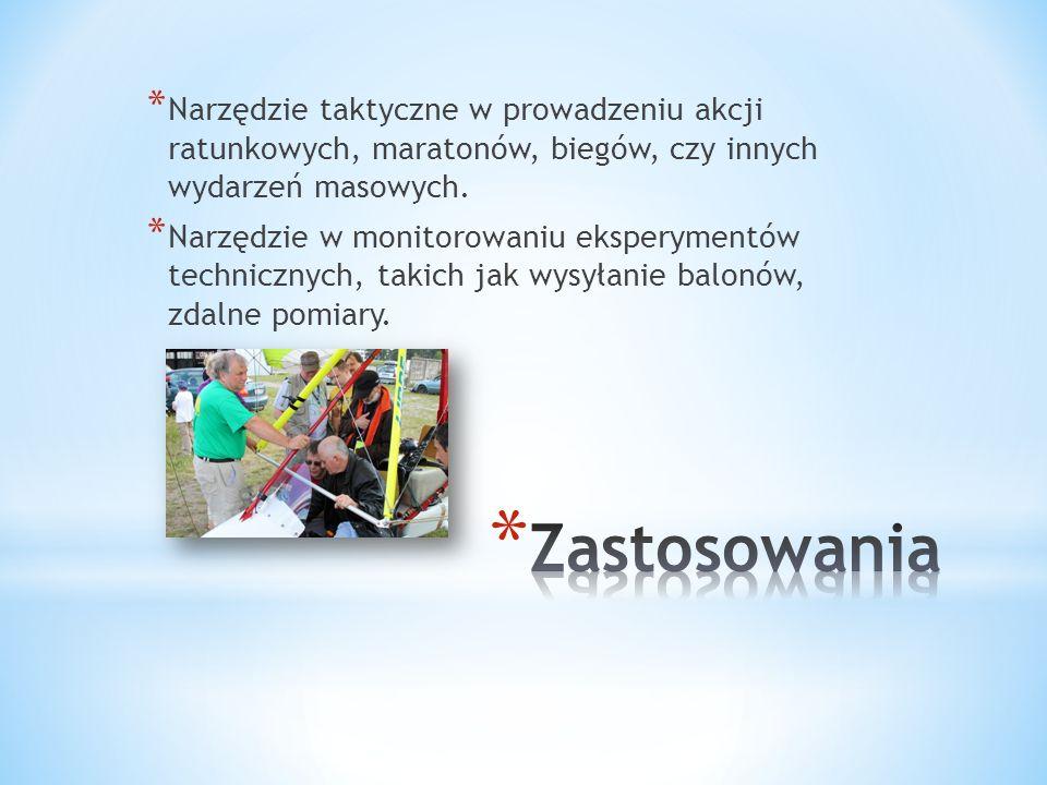 * Narzędzie taktyczne w prowadzeniu akcji ratunkowych, maratonów, biegów, czy innych wydarzeń masowych.