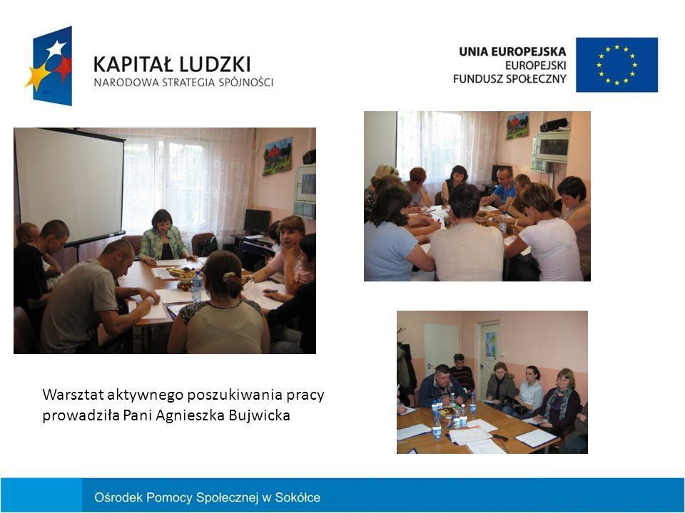 Warsztat aktywnego poszukiwania pracy prowadziła Pani Agnieszka Bujwicka