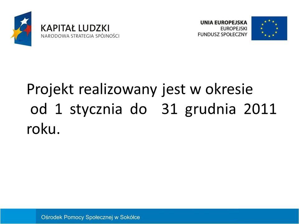 Projekt realizowany jest w okresie od 1 stycznia do 31 grudnia 2011 roku.
