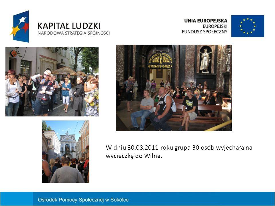 W dniu 30.08.2011 roku grupa 30 osób wyjechała na wycieczkę do Wilna.