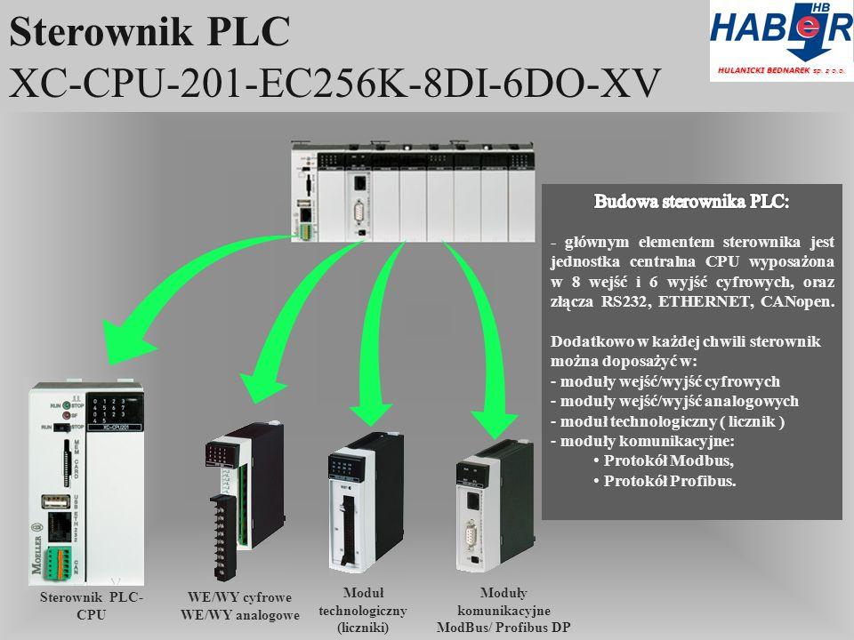 Sterownik PLC XC-CPU-201-EC256K-8DI-6DO-XV HULANICKI BEDNAREK sp.