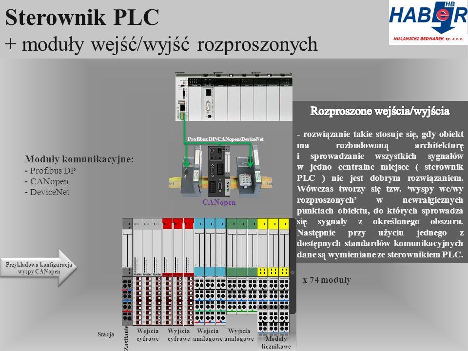 Sterownik PLC + moduły wejść/wyjść rozproszonych HULANICKI BEDNAREK sp.