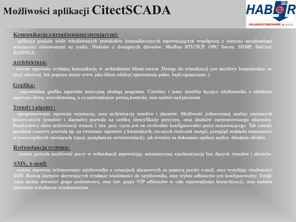 Możliwości aplikacji CitectSCADA HULANICKI BEDNAREK sp.