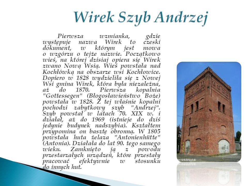 Pierwsza wzmianka, gdzie występuje nazwa Wirek to czeski dokument, w którym jest mowa o wzgórzu o tejże nazwie. Początkowo wieś, na której dzisiaj opi