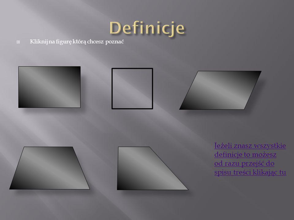 Kwadrat jest to prostokąt, który ma wszystkie boki tej samej długości.
