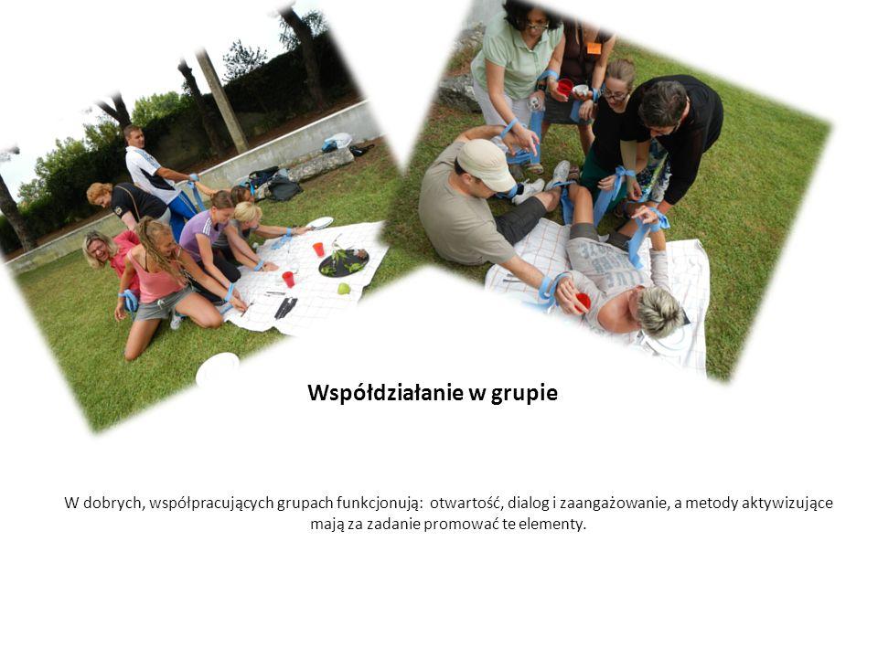 Współdziałanie w grupie W dobrych, współpracujących grupach funkcjonują: otwartość, dialog i zaangażowanie, a metody aktywizujące mają za zadanie prom