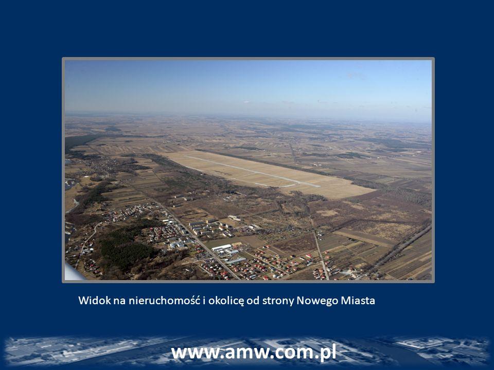 www.amw.com.pl Widok na nieruchomość i okolicę od strony Nowego Miasta