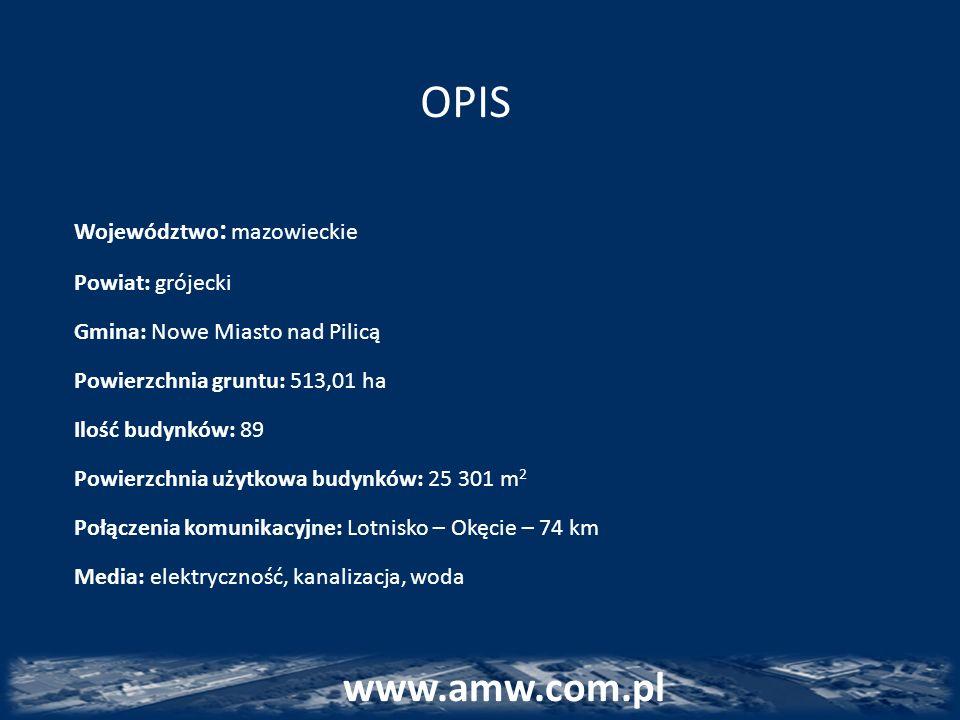 OPIS Województwo : mazowieckie Powiat: grójecki Gmina: Nowe Miasto nad Pilicą Powierzchnia gruntu: 513,01 ha Ilość budynków: 89 Powierzchnia użytkowa