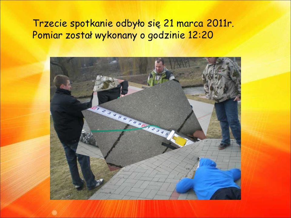 Trzecie spotkanie odbyło się 21 marca 2011r. Pomiar został wykonany o godzinie 12:20