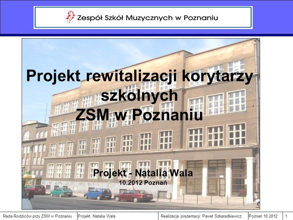 Rada Rodziców przy ZSM w PoznaniuPoznań 10.20122Realizacja prezentacji: Paweł SzkaradkiewiczProjekt.