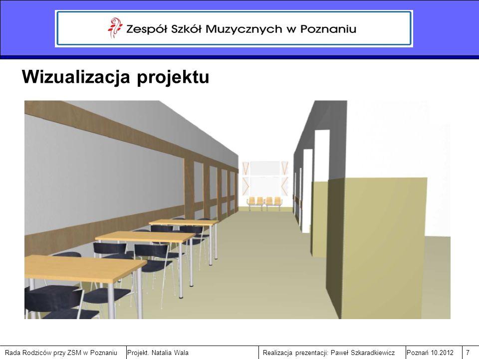 Rada Rodziców przy ZSM w PoznaniuPoznań 10.20127Realizacja prezentacji: Paweł SzkaradkiewiczProjekt.