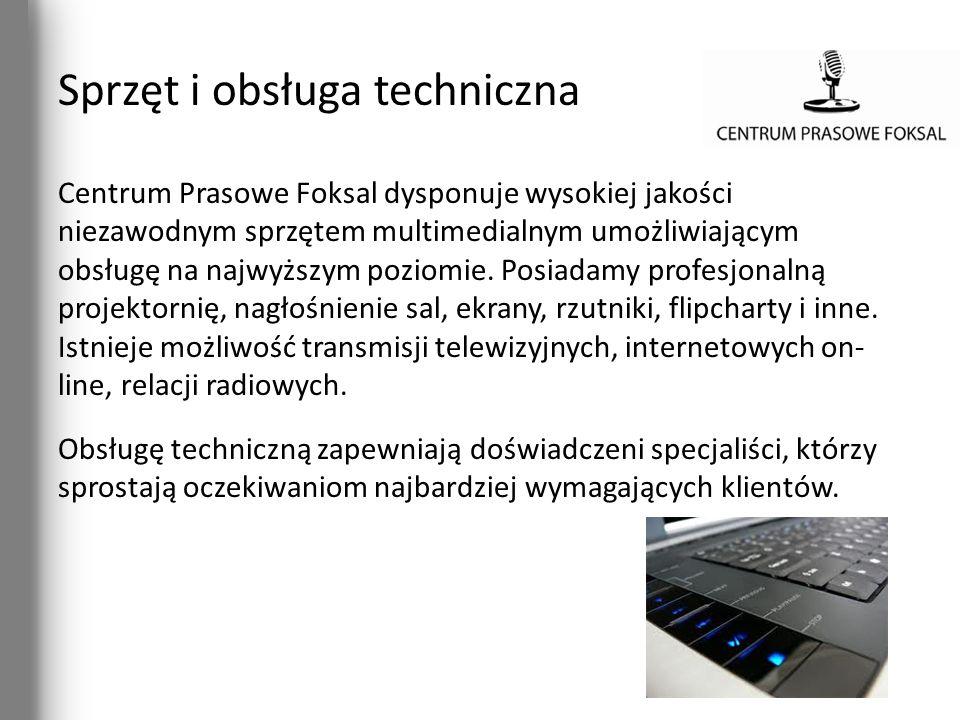 Sprzęt i obsługa techniczna Centrum Prasowe Foksal dysponuje wysokiej jakości niezawodnym sprzętem multimedialnym umożliwiającym obsługę na najwyższym