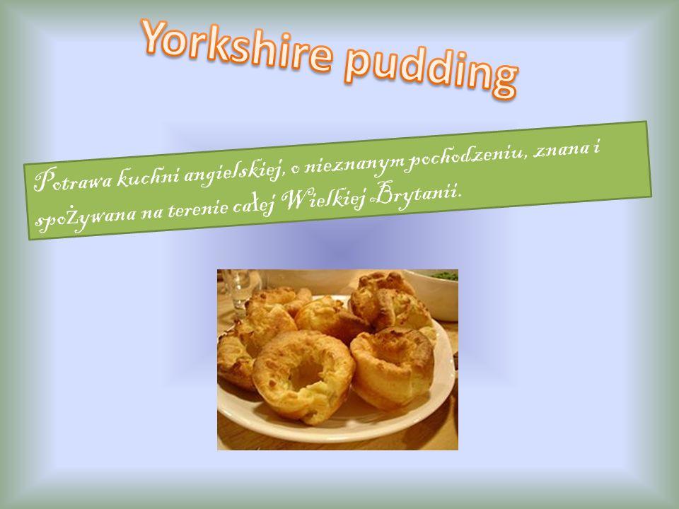Tradycyjne angielskie danie bożonarodzeniowe, odmiana puddingu. Przepis jest dość zawiły, w wielu domach pudding przygotowywany jest według własnego p