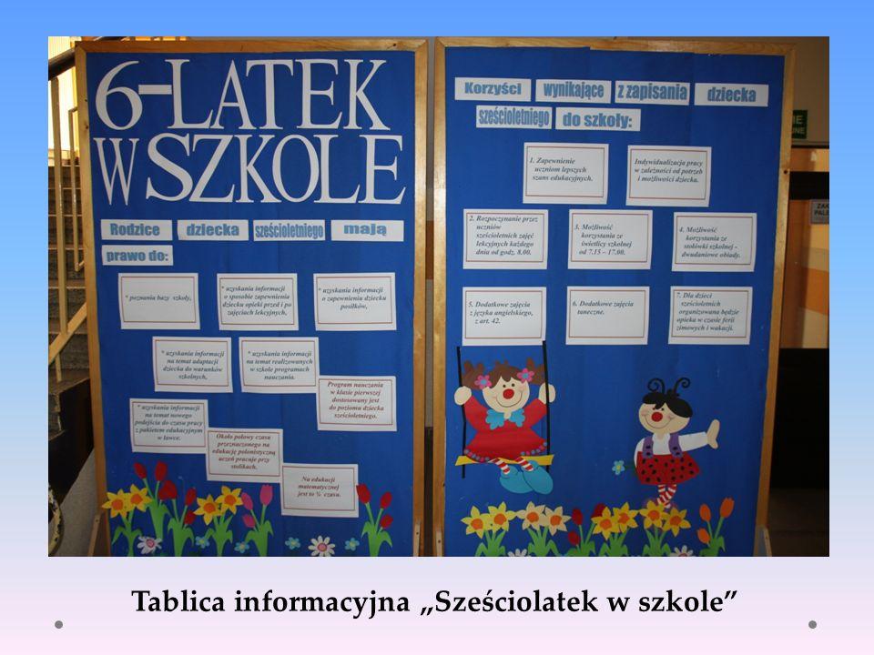 Tablica informacyjna Sześciolatek w szkole