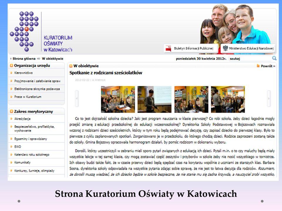 Strona Kuratorium Oświaty w Katowicach