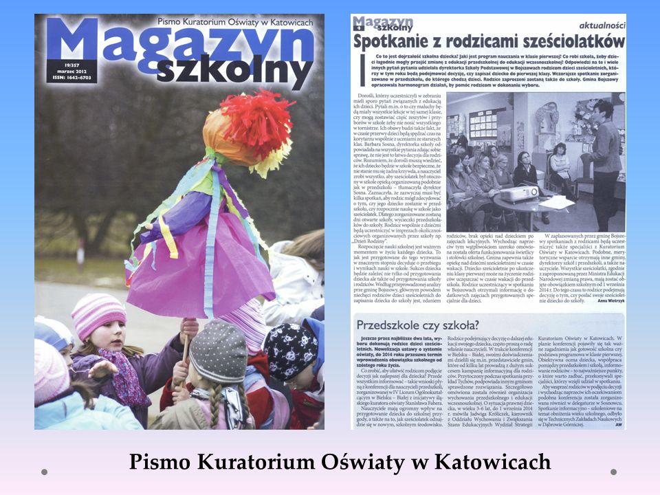 Pismo Kuratorium Oświaty w Katowicach
