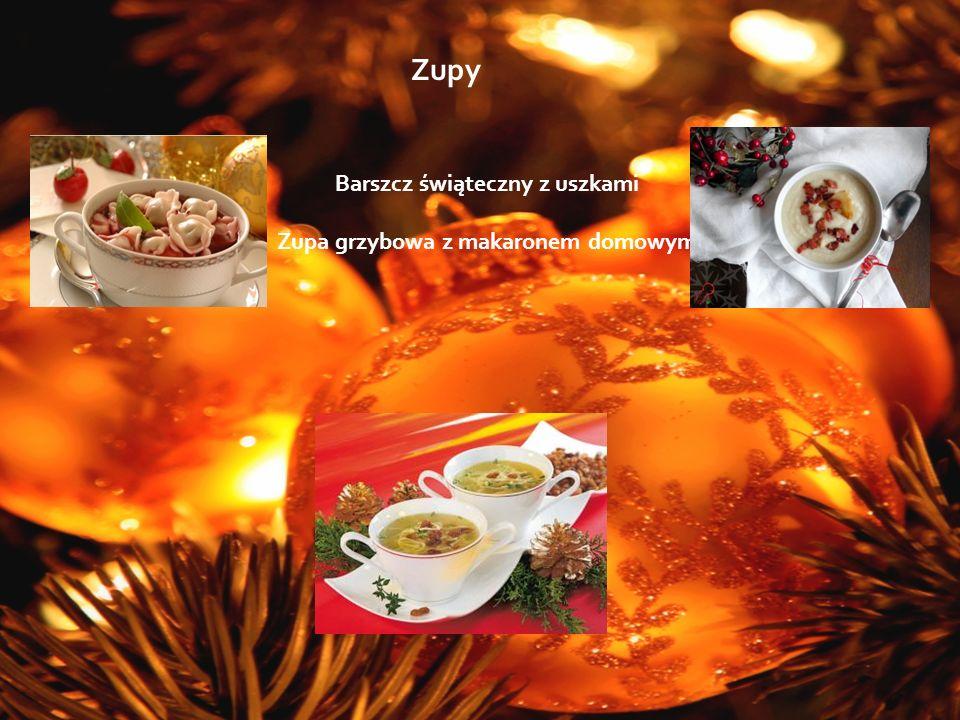 Dania główne Krokiet z kapustą i grzybami Łosoś smażony w sosie cytrynowym Karp smażony Łazanki z kapustą i grzybami Pierogi z kapustą i grzybami Łosoś w sosie cytrynowo Filet z kurczaka w sosie żurawinowym Kaczka w sosie śliwkowym Filet z soli w panierce francuskiej w sosie kaparowym Na specjalne życzenie oferujemy także menu mięsne