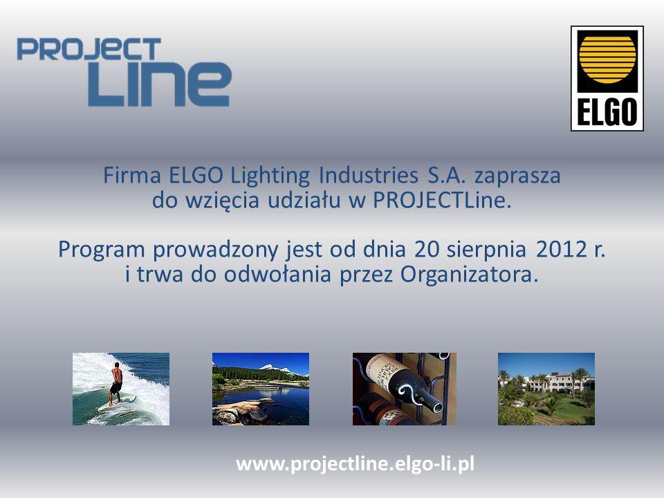 Zarejestruj się na stronie www.projectline.elgo-li.pl www.projectline.elgo-li.pl