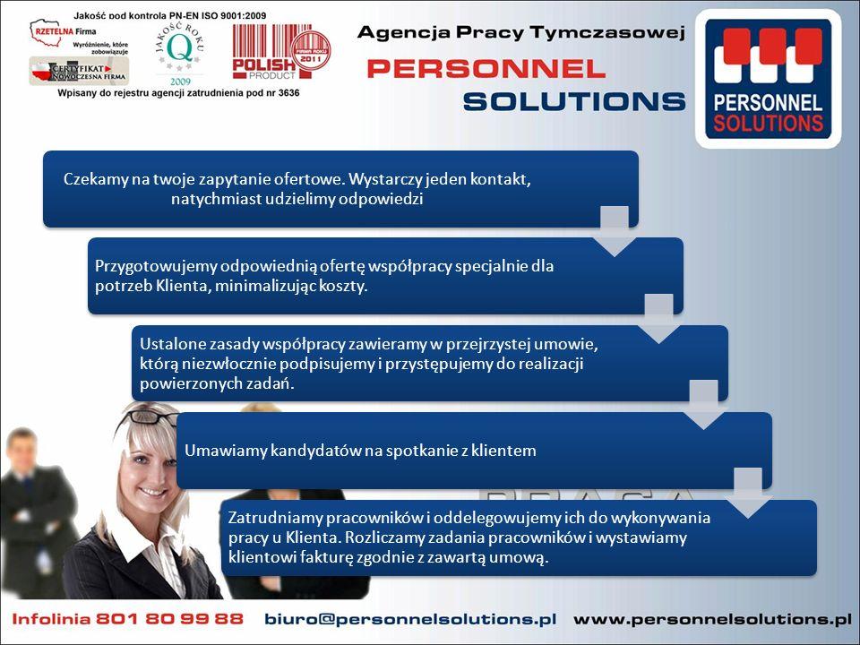 Szybkość reakcji, niezawodność, trafne określenie potrzeb rekrutacyjnych, pozwala na zaspokojenie potrzeb przedsiębiorcy w krótkim czasie.