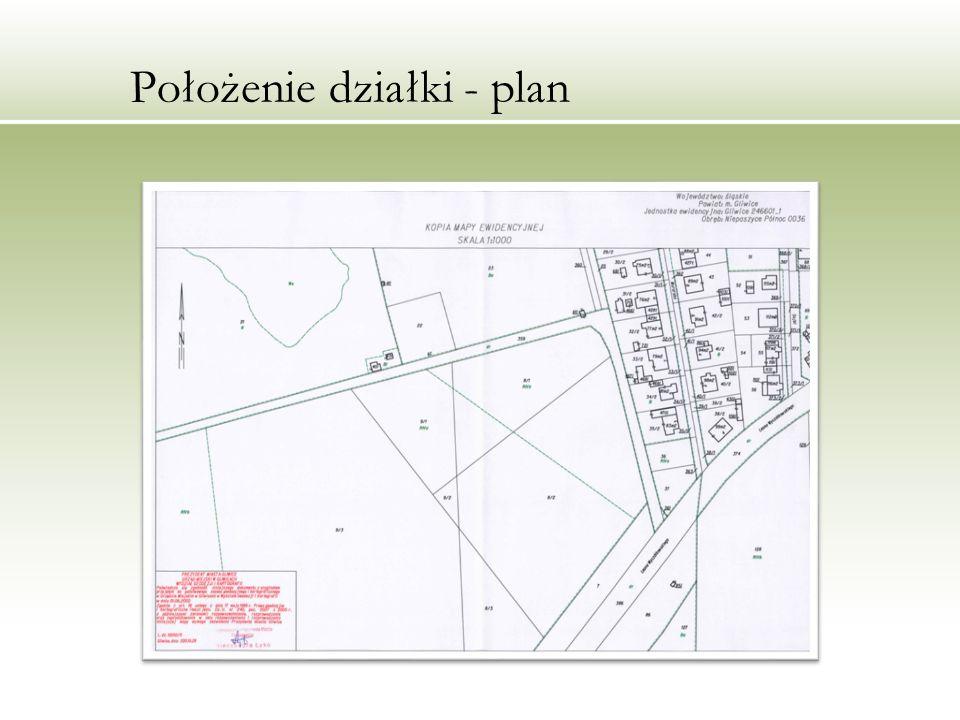 Położenie działki - plan