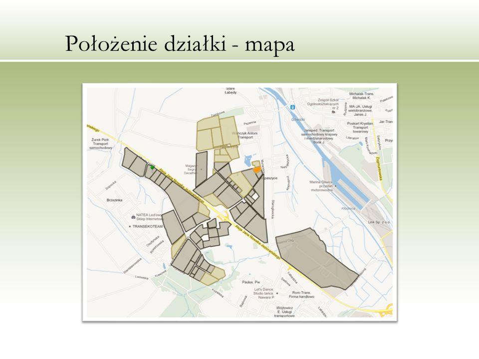Położenie działki - mapa