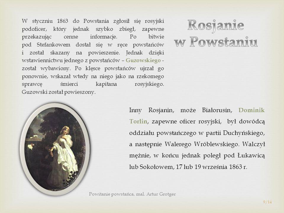 W styczniu 1863 do Powstania zgłosił się rosyjski podoficer, który jednak szybko zbiegł, zapewne przekazując cenne informacje. Po bitwie pod Stefankow