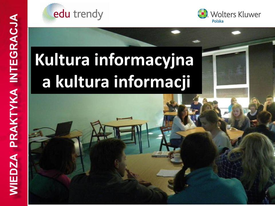 WIEDZA PRAKTYKA INTEGRACJA Kultura informacyjna a kultura informacji