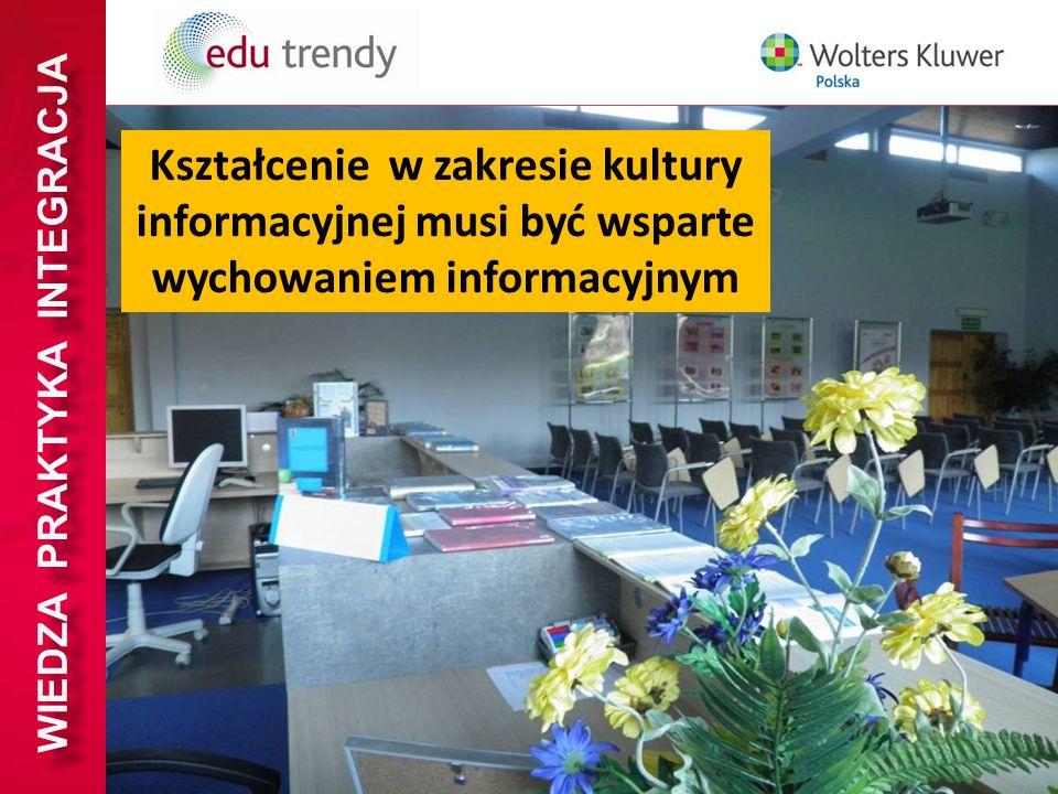 WIEDZA PRAKTYKA INTEGRACJA Kształcenie w zakresie kultury informacyjnej musi być wsparte wychowaniem informacyjnym