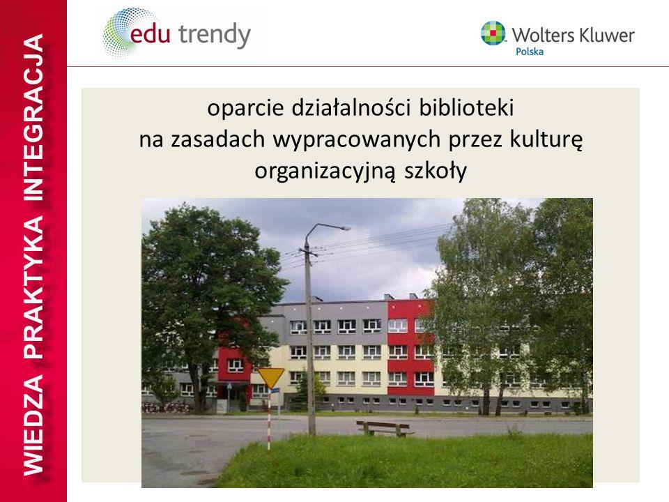 WIEDZA PRAKTYKA INTEGRACJA oparcie działalności biblioteki na zasadach wypracowanych przez kulturę organizacyjną szkoły