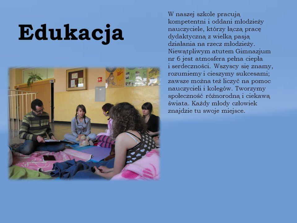 Edukacja W naszej szkole pracują kompetentni i oddani młodzieży nauczyciele, którzy łączą pracę dydaktyczną z wielką pasją działania na rzecz młodzieży.