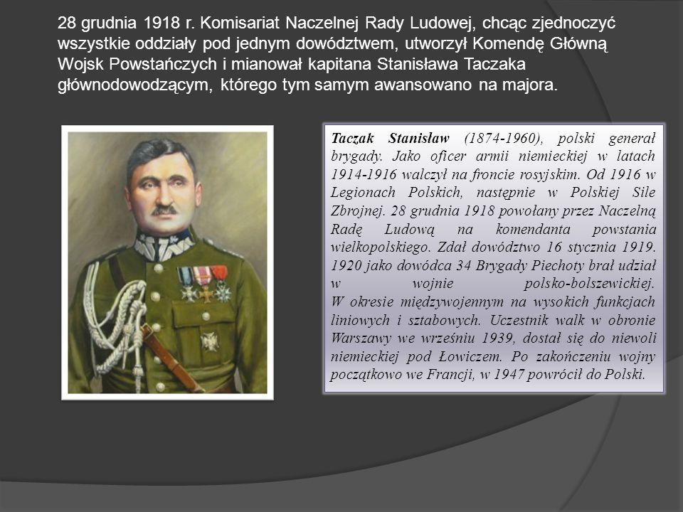 Taczak Stanisław (1874-1960), polski generał brygady. Jako oficer armii niemieckiej w latach 1914-1916 walczył na froncie rosyjskim. Od 1916 w Legiona