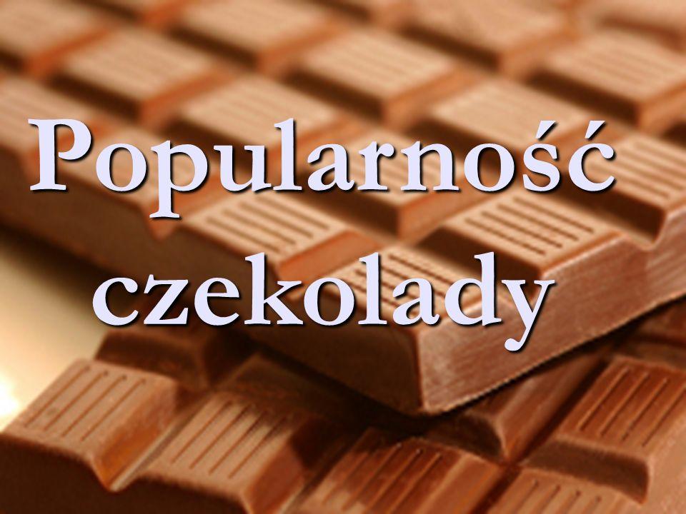 Popularność czekolady