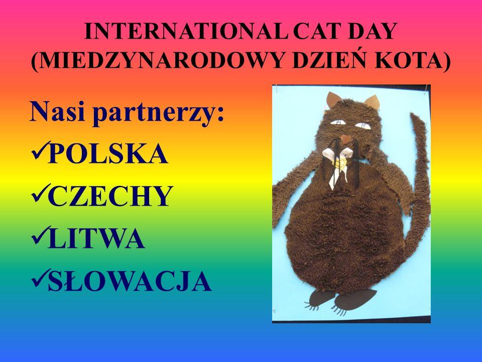 INTERNATIONAL CAT DAY (MIEDZYNARODOWY DZIEŃ KOTA) Nasi partnerzy: POLSKA CZECHY LITWA SŁOWACJA