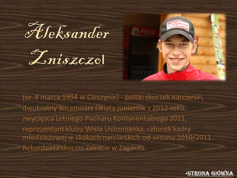 (ur. 8 marca 1994 w Cieszynie) - polski skoczek narciarski, dwukrotny wicemistrz świata juniorów z 2012 roku, zwycięzca Letniego Pucharu Kontynentalne