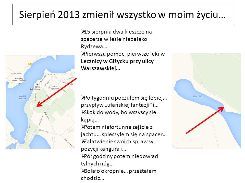 Sierpień 2013 zmienił wszystko w moim życiu… 15 sierpnia dwa kleszcze na spacerze w lesie niedaleko Rydzewa… Pierwsza pomoc, pierwsze leki w Lecznicy