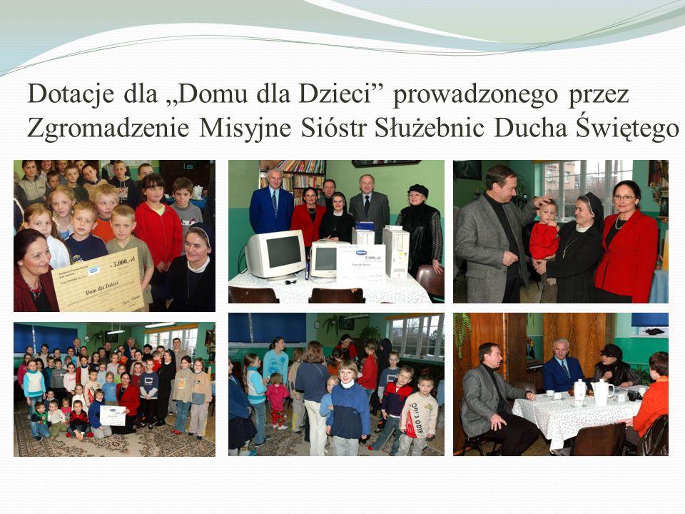 Dotacje dla Domu dla Dzieci prowadzonego przez Zgromadzenie Misyjne Sióstr Służebnic Ducha Świętego