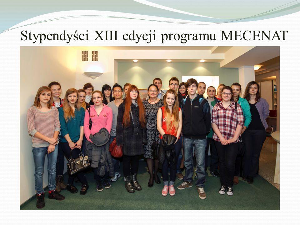 Stypendyści XIII edycji programu MECENAT
