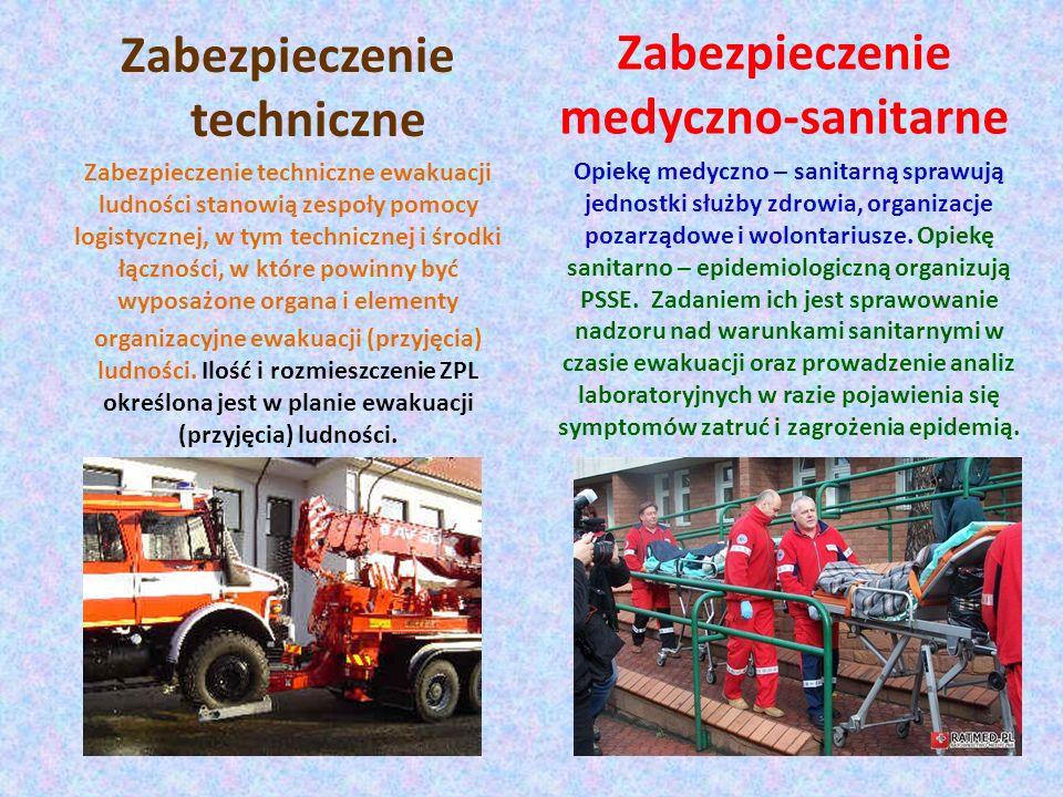 Zabezpieczenie medyczno-sanitarne Opiekę medyczno – sanitarną sprawują jednostki służby zdrowia, organizacje pozarządowe i wolontariusze. Opiekę sanit